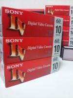 友達からソニーDVテープ30本が届いた(10DVM60R3×3)