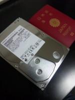 ハードディスクとパスポート