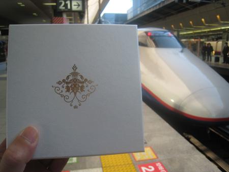 長野新幹線と贈答箱